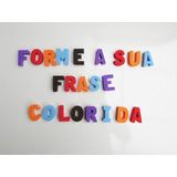 5 Letra Em Eva Colorido De 4 Cm Forme Sua Frase Frete R$10
