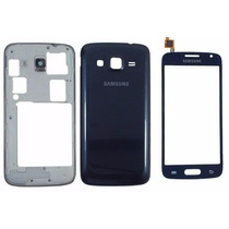 Touch + Carcaça + Lcd + Botao Galaxy S3 Duos Gt -i8262b Azul