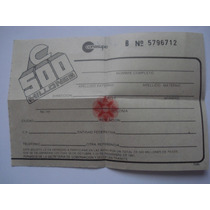 Boleto Rifa De 500 Millones De La Conasupo De 1987 Sin Usar