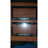 Porta Placas Chevrolet Ford Mazda Fiat Negros
