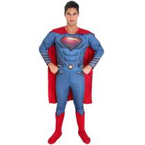 Fantasia Superman O Homem De Aço Sulamericana Adulto