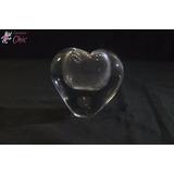 Peso De Papel Na Forma De Coração Em Vidro Cchic