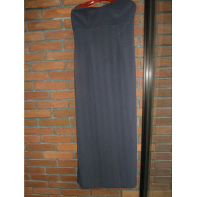 Vestido De Fiesta Gris Oscuro, Largo, Sin Breteles
