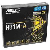 Placa Mãe Intel H81 Lga 1150 H81m-a /br Asus