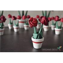Pack_ 5 Centros Mesa+ 40 Souvenirs *rosas Origami C/maceta!*