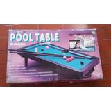 Juego De Mesa * Mini Pool Table * Con Paño * Pool * Billar *