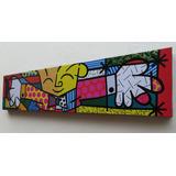 Quadro Sala Quarto O Abraço 150x36cm- The Hug Romero Britto