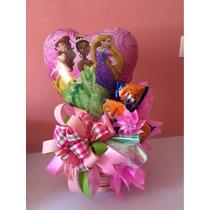 Arreglo Princesas Disney Con Globos Y Chocolates