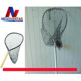 Red De Pesca Plegable Extendible Largo Alcance De Aluminio