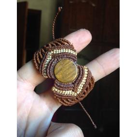 Pulseira Hippie Macramê Pedra Lapidada E Polida (encomenda)
