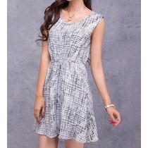Vestido Chiffon Dress Plaid Skirt Moda Verão 2014 50% Off