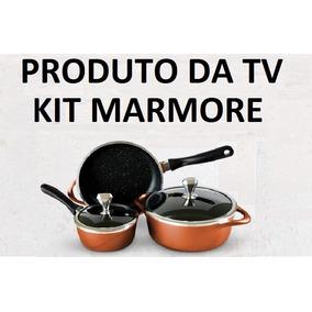 Conjunto Panelas Marmore Sucesso Mundial Tv Frete Gratis