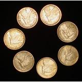 Monedas Chilenas Antiguas - 5 Cent. -set 7 Años Seguidos