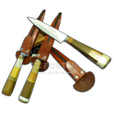 Cuchillo Cabo Maderas Combinadas Inox 420 Ñandu 15 Cm Hoja