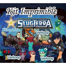 Kit Imprimible Bajo Terra Slug Terra Candy Bar Tarjetas