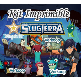 Kit Imprimible Bajo Terra Slug Terra Candy Bar Tarjetas
