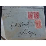 Antigua Carta Con Estampillas Timbrada En 1901 -chilena
