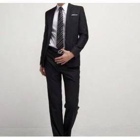 Terno Slim 2 Botões Oxford + Gravata + Capa De Protecao.
