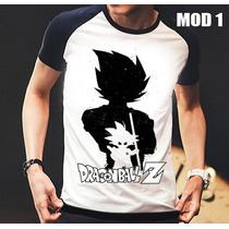 Camisa/camiseta Raglan Dragon Ball Z Goku Pronta Entrega