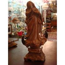Nossa Senhora Da Conceição Em Alabastro Rara E Antiga