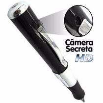 Caneta Espiã Câmera Filmadora Hd Espião C/ Cartão De Memória