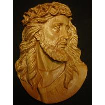 Cristo Tallado En Madera De Banak - Rostro De Jesus -