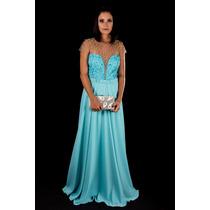 Vestido De Festa Azul Tiffany/madrinha/casamento/formatura