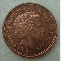 2193 Inglaterra 2004 Two Pence Elizabeth I I 26mm - Bronze