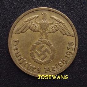 10 Reichspfennig. Moneda Alemana Del Año 1938 B S/c