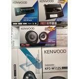 Paquete Kenwood Stereo Bocinas 2 Woofers Amplicador Clasica