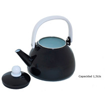 Pava 1.5 Lts Enlozada Retro Shoppy Color Negro