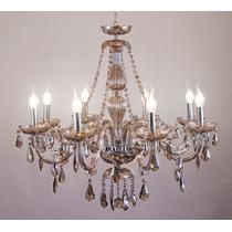 Lustre De Cristal Maria Tereza 8 Lamp.e14 W/k5 Champagne