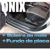 Soleira Onix 2013 A 2016 Joy 2017 18 + Mala + Fundo Placa