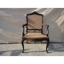 1 Cadeira De Braço-poltrona Luis Xv Jacarandá