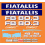 Kit Adesivos Fiatallis Fb 80.3 - Decalx