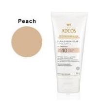 Protetor Solar Gel Creme Facial Com Cor Peach Fps40 50g