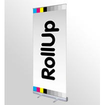 Roll-up De .85x2.00 Y .80x2de Aluminio Incluye Bolsa $370.00