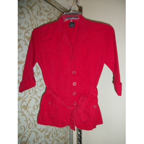 Precioso Saco Casual Rojo French Cuff Para Dama T S-30