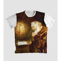 Camiseta Padre Pio Religiosa Católica