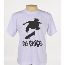 Camisa Camiseta Personalizada Go Skate Skatista Treino