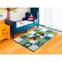 Alfombra Infantil Importada Carpeta Kinder Modernas 120x170