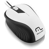 Mouse Multilaser Emborrachado Branc/preto Comfio Usb - Mo224