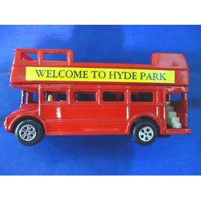 Ônibus Inglês Sem Teto Em Metal Pintado (apontador Coleção)