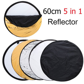 Rebatedor Circular Fotográfico 5x1 60cm Difusor Refletor