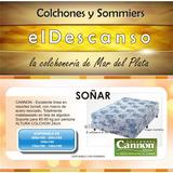 Colchon Cannon Soñar 140x190 Resortes En Mar Del Plata