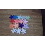 Estrella Aplique Tejida Al Crochet 10 Unidades