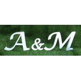 Iniciales Letras En Mdf 18mm Boda Fiesta Matrimonio 15 Años