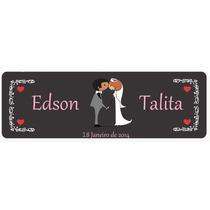 Placas De Carro Personalizadas Para Casamento - Placa Noiva