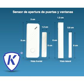 Paquete De 8 Sensores De Apertura Para Puertas Y Ventanas