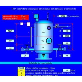 Planilha De Engenharia - Cálculo De Reservatorio Pressuriza